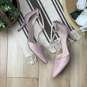 COLE HAAN Pink gold brushed heels
